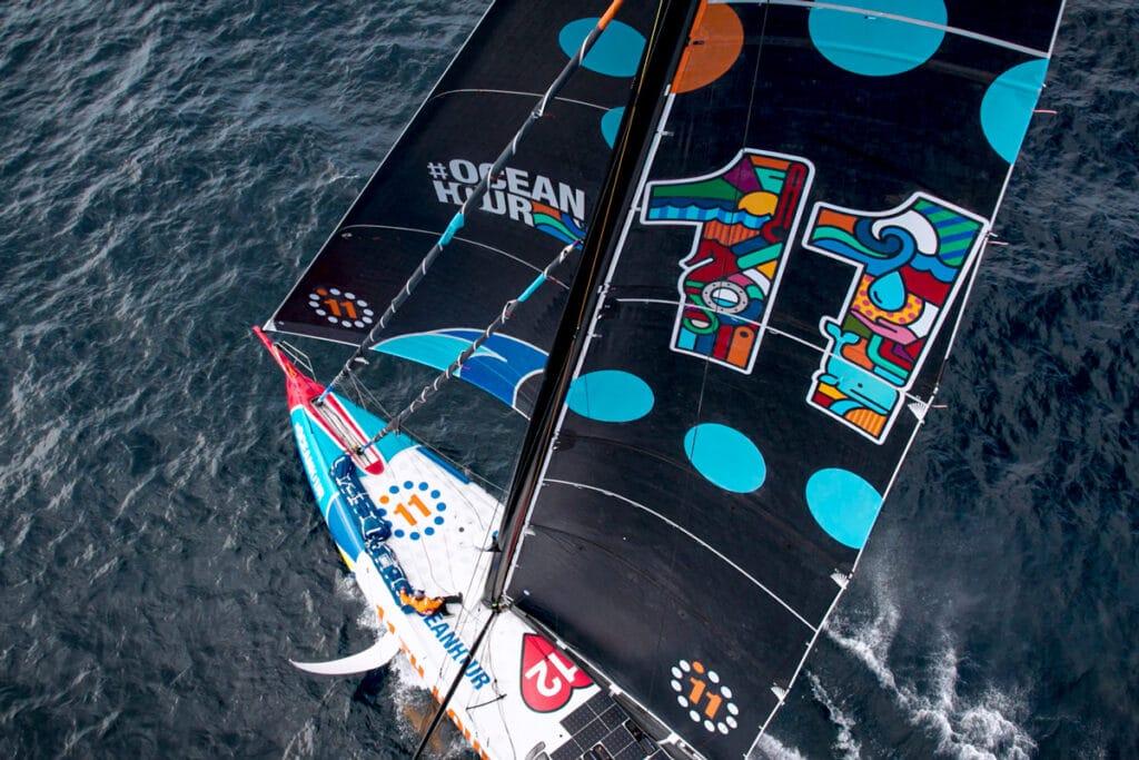 11th Hour Racing Team's brand new IMOCA 60 11.2 sailing foiling