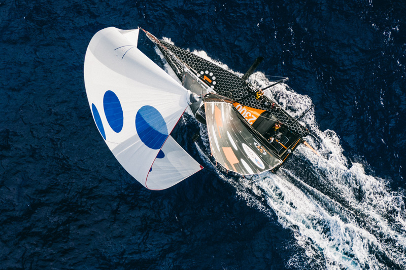 11th hour racing team imoca 60 sailboat drone