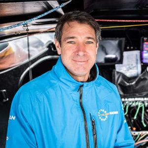 11th Hour Racing Team co-skipper and navigator Simon Fisher