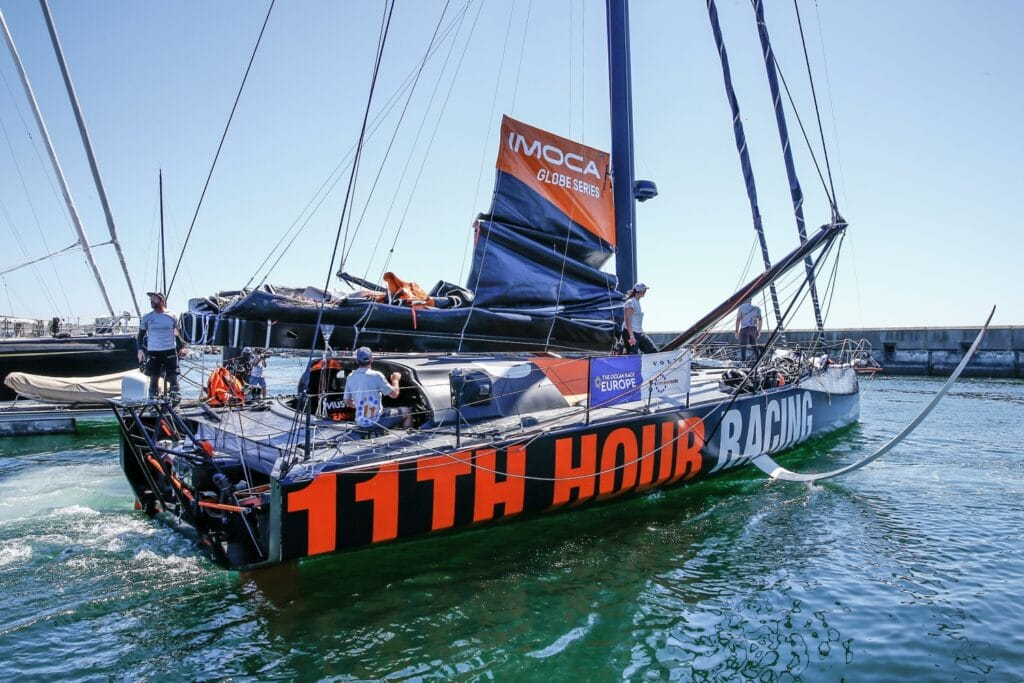 11th hour Racing Team back at dock after leg 2 start