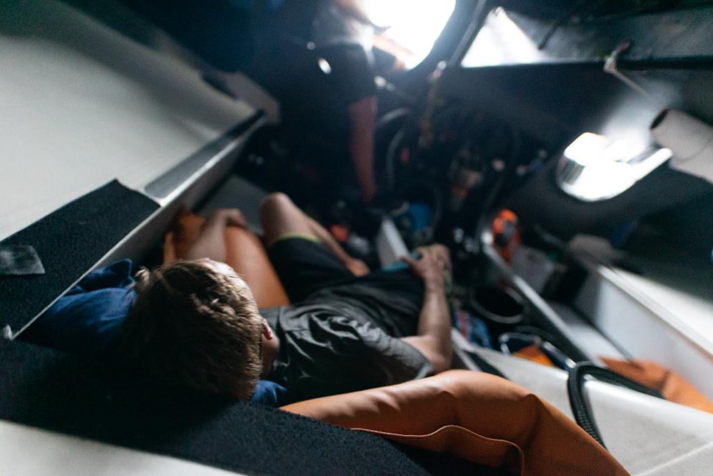 11th Hour Racing Team delivery sailing sleeping IMOCA 60