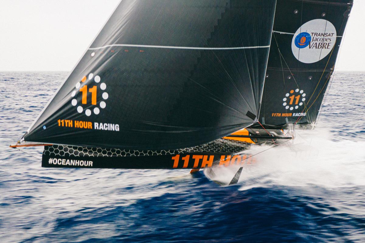11th Hour Racing Team sailing epic foiling IMOCA 60