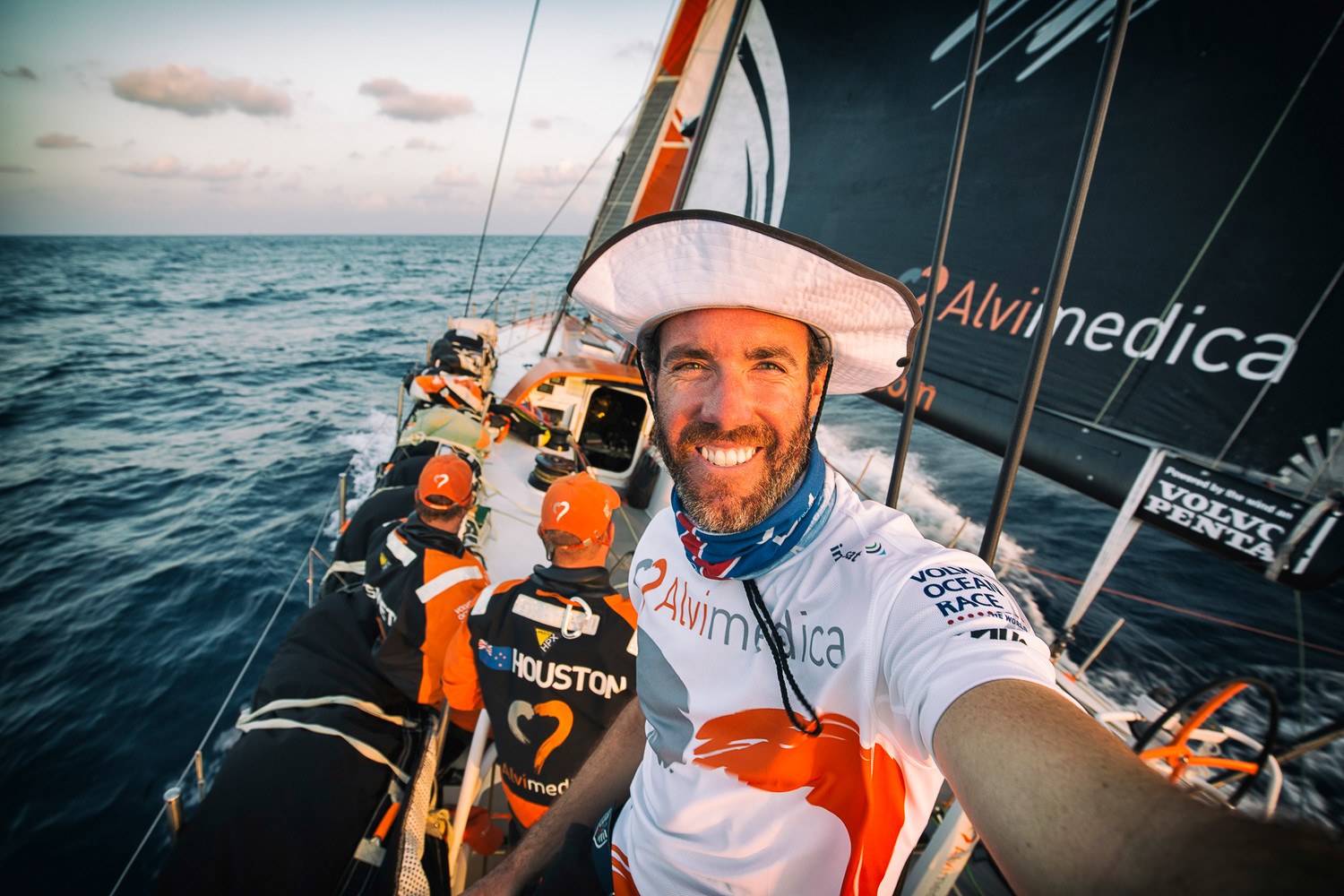 Amory Ross onboard reporter and content director for 11th Hour Racing Team in The Ocean Race 2021-22